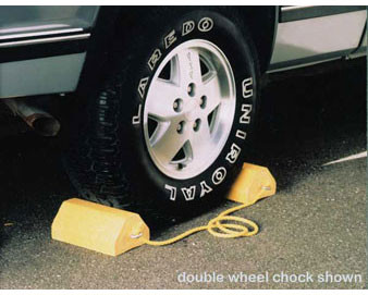 Yellow Colored Double-Wheel Chocks