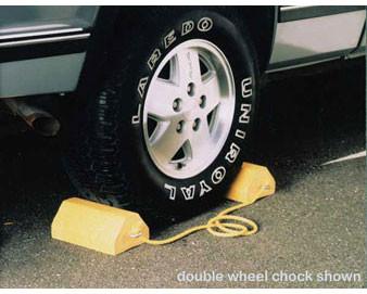 Yellow Colored Single-Wheel Chock