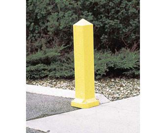 3-Ft. Recycled Plastic Yellow Traffic Bollard