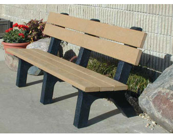 6-Ft. Rock Island Recycled Plastic Bench
