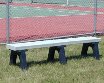 4-Ft. Recycled Plastic Trail Bench with Black Legs