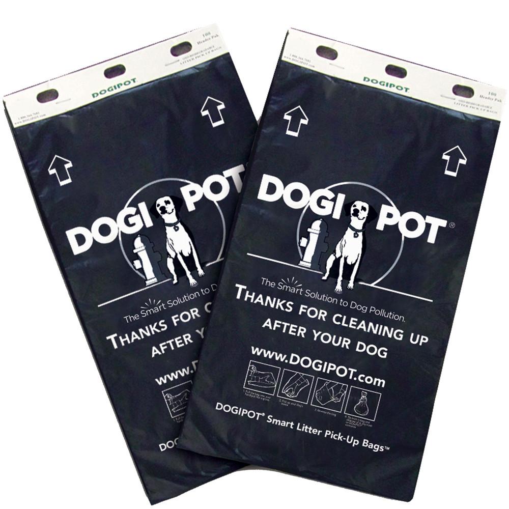 DOGIPOT Header Pak Litter Pick Up Bags Case of 20 (100 bags per card)