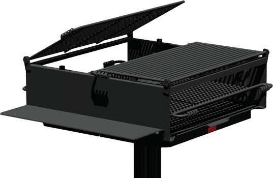 1350 Sq. Large Group Park Grill with Utility Shelf