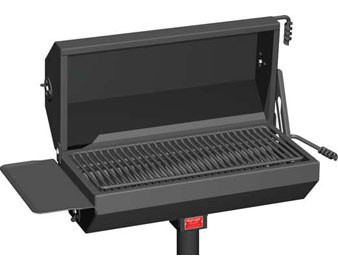 500 Sq. Covered Park Grill with Utility Shelf