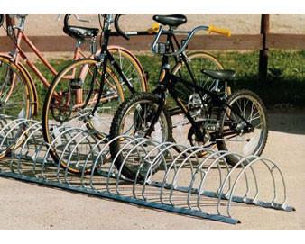 12-Bike Double-Sided Galvanized Circular Bike Rack - 8'L