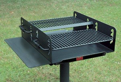 1008 Sq. Large Group Park Grill with Utility Shelf