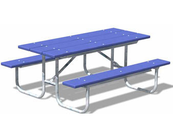 6-Ft. Recycled Plastic Table - 1-5/8 Hot-Dip Galvanized Frame