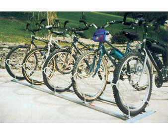8-Bike Single-Sided Hot-Dip Galvanized Bike Stand