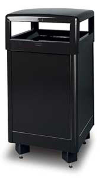 29-Gal. Dimension 500 Series Square Hinged Covered Steel Trash Receptacle