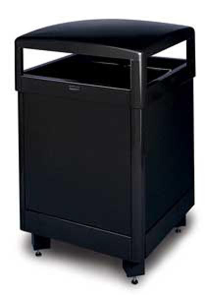 48-Gal. Dimension 500 Series Square Hinged Covered Steel Trash Receptacle