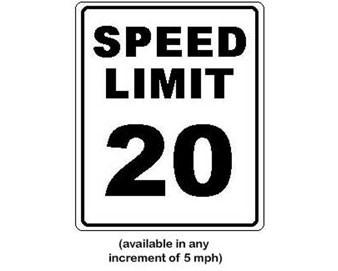 Speed Limit 20 Sign