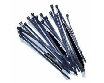 100 Black Zip Ties for Fence Topper