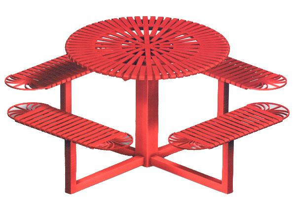 66 Round Metal Picnic Table
