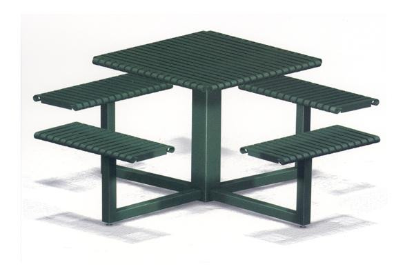 67 Square Steel Picnic Table