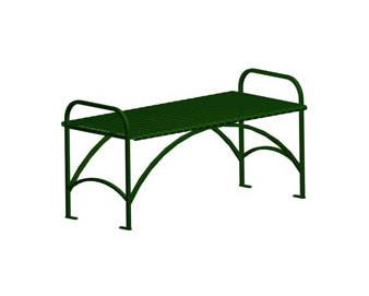 Flat Steel Strap Bench