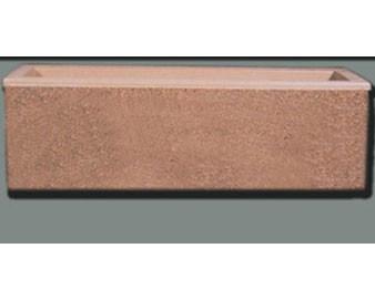 96Lx30Wx30H Rectangular Concrete Planter..