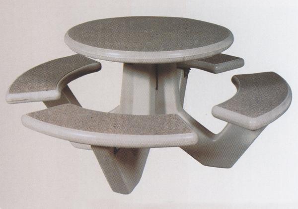 66 Dia. Round Concrete Picnic Table