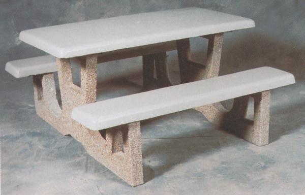 Rectangular Concrete Picnic Table