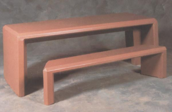7ft Rectangular Concrete Picnic Table