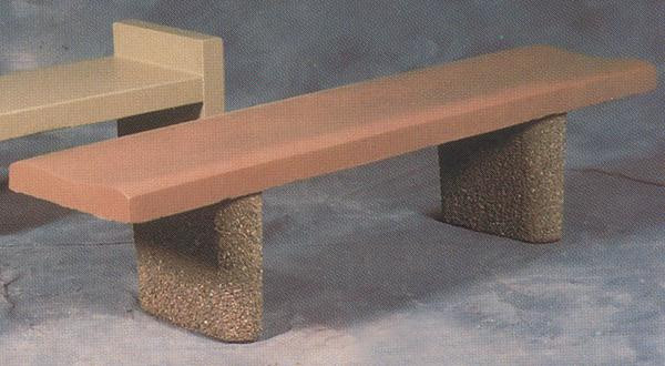 6ft Contoured Concrete Bench