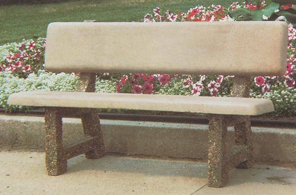 Maricopa Concrete Bench with Back