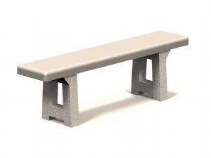 Flat Concrete Bench