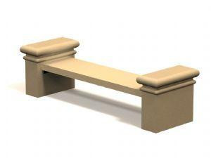 7-Ft. 3.5 in. Flat Concrete Bench