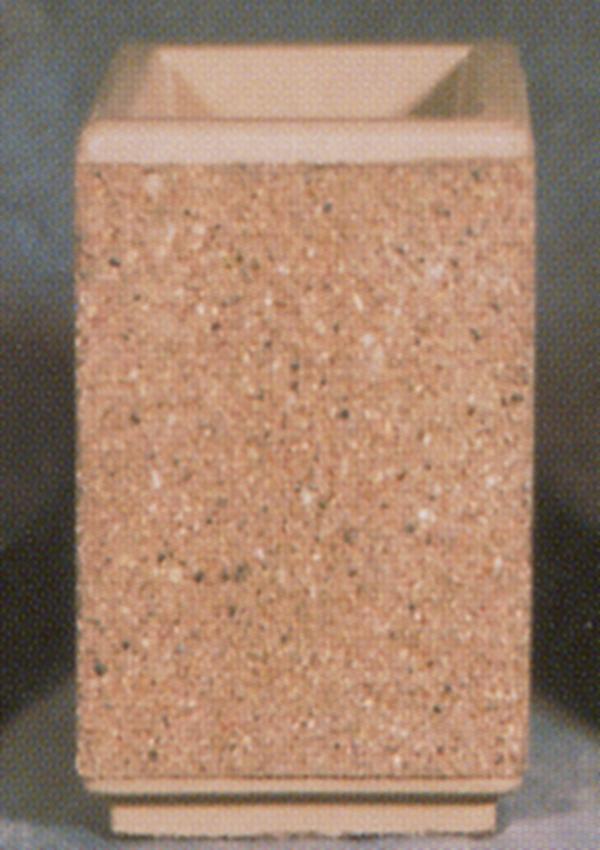 18Lx18Wx24H Square Concrete Urn