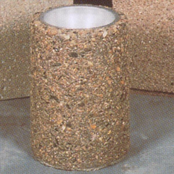 Round Concrete Smoking Urn