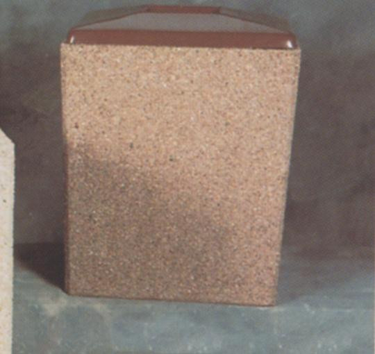 30-Gal. Rectangular Open Top Concrete Trash Receptacle - 29L x 26W x 36H