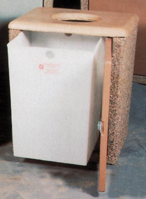 45-Gal. Rectangular Open Top Concrete Trash Receptacle - 29L x 26W x 36H