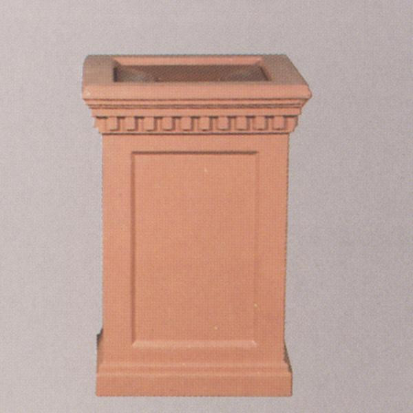 22-Gal. Victorian Series Square Open Top Concrete Trash Receptacle