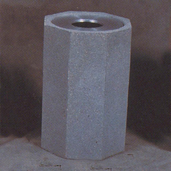 22-Gal. Hexagonal Open Top Concrete Trash Receptacle - 21D x 30H