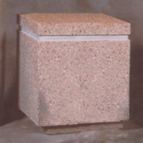 16Lx16Wx28H Square Concrete Bollard
