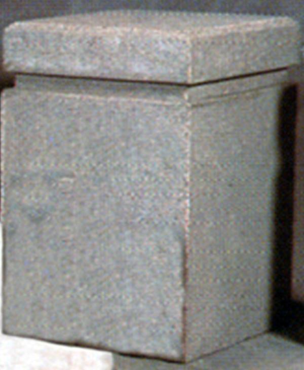 24Lx24Wx40H Square Concrete Bollard