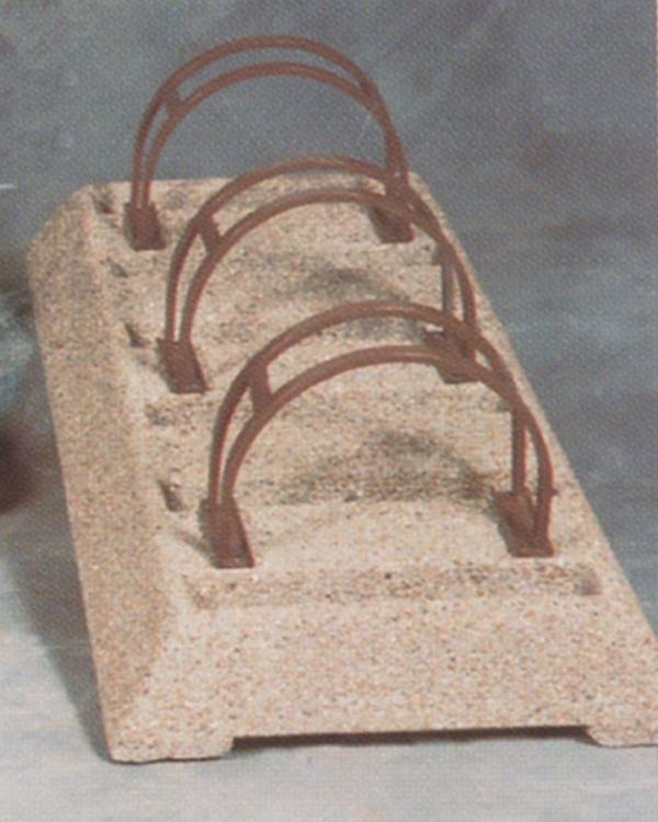 Concrete Bike Rack with Hitching Loops