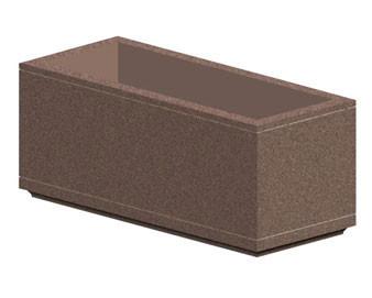 6Lx3Wx3H Rectangular Concrete Planter