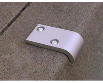 "Skate Stopper For Walls with 1/2"" Radius Edge"