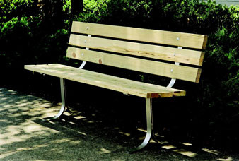 6-Ft. Wooden Bench with Back