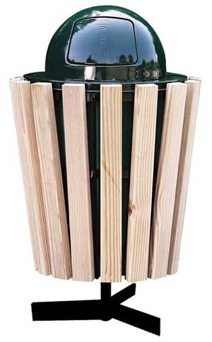 22-Gal. Treated Yellow Pine Receptacle with Liner