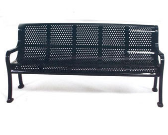 Roll Formed Perforated Bench with Back