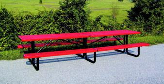 12-Ft Rectangular Perforated Metal Picnic Table