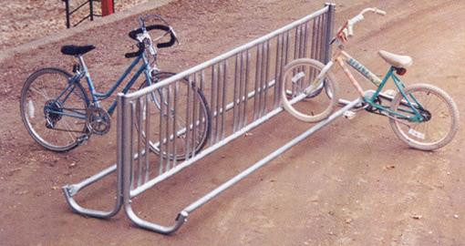 Double Sided J-Frame Galvanized Bike Rack