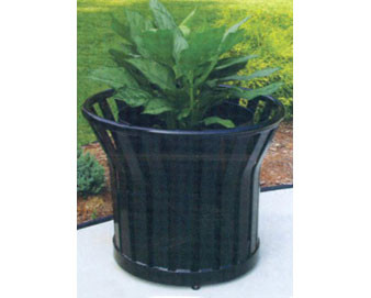Steel Strap Planter with Liner