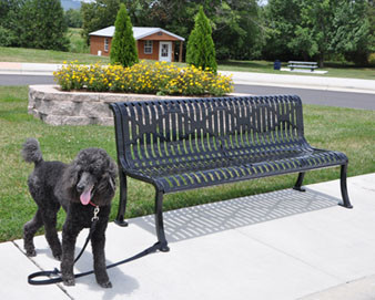 Armless Roll Formed Diamond Bench