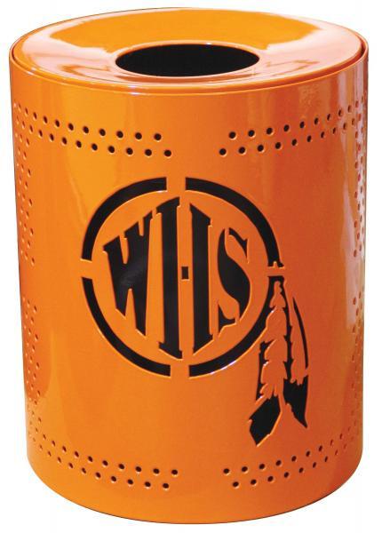 32-Gal. Perforated Custom Logo Receptacle