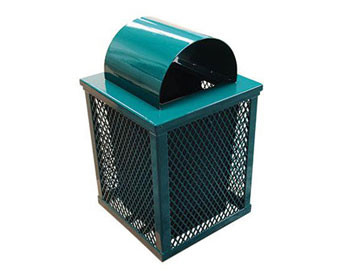 32 Gal. Square Expanded Metal Receptacle