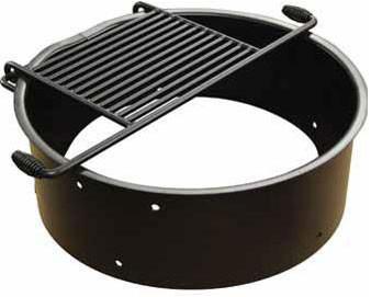 32D x 11H Flip Grate Fire Ring
