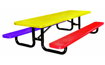 6 Ft Childrens Expanded Metal Picnic Table