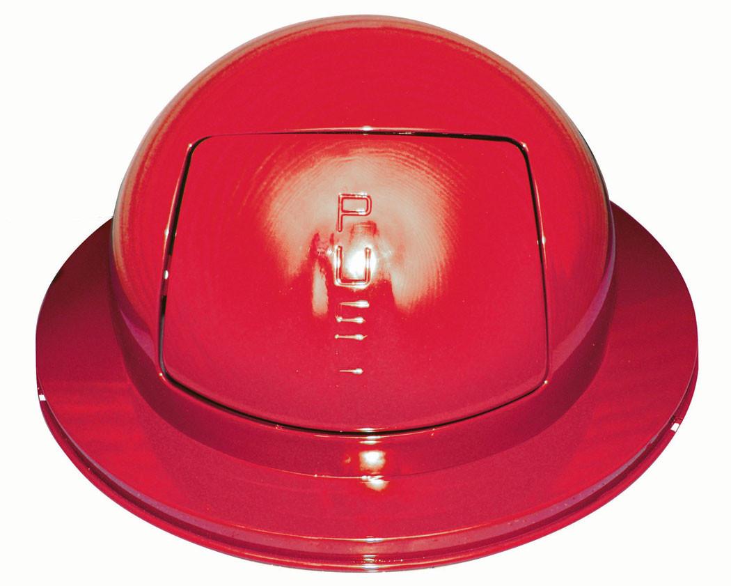 55 Gallon Drum Dome Lid, Flush Door